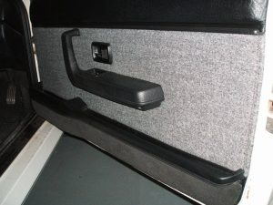 Photo - Audi Quattro showing re-trimmed driver's door card