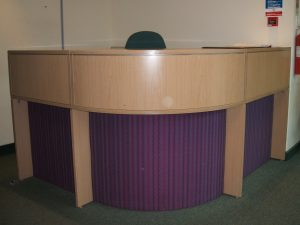 Photo - Reception Desk With Upholstered Panels
