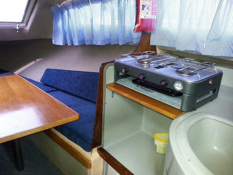 Photo - New cooker installed in cabin