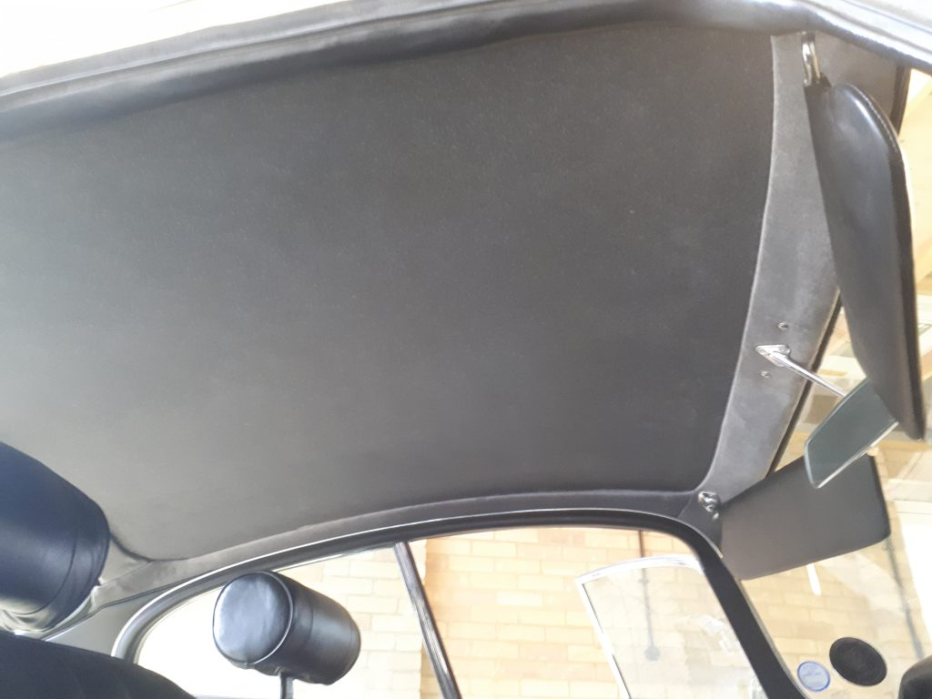 E Type Jaguar Headlining Refurbishment