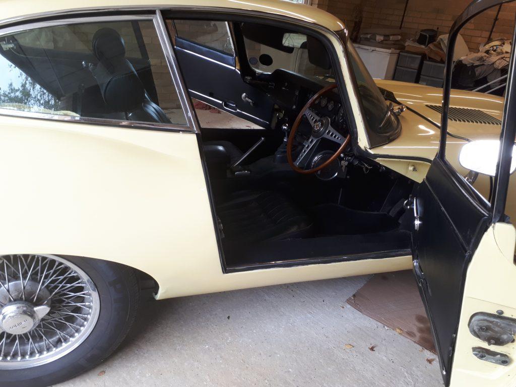 E Type Jaguar Headlining Replacement